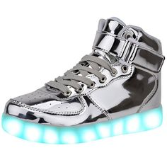 Women USB Charging 7 Colors High Top Luminous LED Light Shoes  #bohembag #minichocolaticas #doublecream #hotchocolatedesign #pimpos #doubletopping #bohembags #hcdinternational #pimposaustralia #hadesfootwear