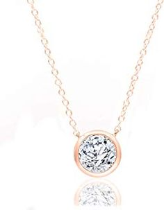1/2 Carat Natural Diamond Necklace 10K Rose Gold (H-I Color I2 Clarity) Halo Diamond Necklace for Women Diamond Jewelry Gifts for Women - $829.00 -  - Luxurious Jewelry 2019 - Gold & Diamond 2 Carat, Halo Diamond, Luxury Jewelry, Natural Diamonds, Gifts For Women, Diamond Jewelry, Clarity, Jewelry Gifts, Rose Gold