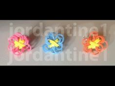 Solid Color Flower Fun Charm made with the Rainbow Loom.