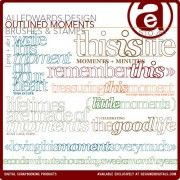 Outlined Moments Brushes and Stamps
