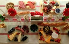 French Bistro Wine and Cheese Party Spread