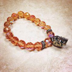 Iridescent Skull Bracelet on Etsy, $14.00