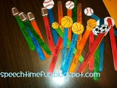 Sports Pick-A-Stick -  Pinned by @PediaStaff – Please Visit http://ht.ly/63sNt for all our pediatric therapy pins