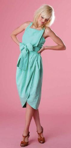 holy shit this dress is incredible!   aqua bow dress by WHIT