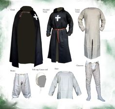 MALE OUTERWEAR 13th-14th MEDIEVAL DESIGN