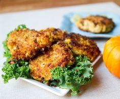Vegan Pumpkin Chickpea Fritters.