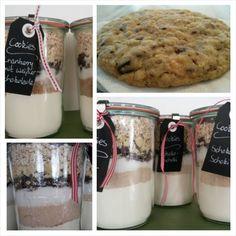 Geschenkidee: Backmischung für Cookies im Weck-Glas, im Sortiment Café Bartini München Harlaching