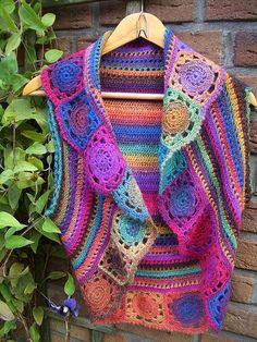 Ravelry: claupe's 126-8 Crochet bolero RAINBOW: