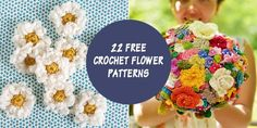 Embellish hats, bags or just about anything with these free simple crochet flower patterns.