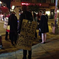 Free hugs & music from Quiet Company