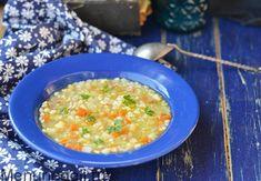Перловый суп с кореньями и копченой грудинкой
