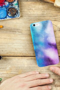 Watercolors create a calm, peaceful atmosphere and at the same time, they are very tasteful and stylish. Choose these shades of blue and purple phone case as the next eye-catching item you own. Color Of The Day, Shades Of Blue, Watercolors, Calm, Phone Cases, Eye, Purple, Create, Stylish