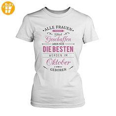 Die Glücklichsten Einhörner werden im Oktober geboren! Perfektes Geschenk  zum Geburtstag - Damen Rundhals T-Shirt (*Partner-Link)   Pinterest