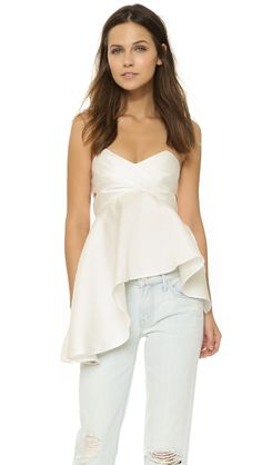 Solace London Missy Top - White