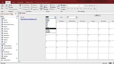 Microsoft Access Calendar Form Template