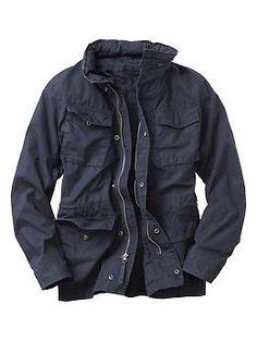 Gap:  Men's ripstop fatigue jacket, Olive (Small)