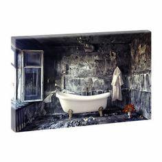 Badezimmer - Kunstdruck auf Leinwand -H-65cmB-100cm-Angebote im Shop