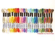 Anchor Variegated 6 Strand Floss 1 each of 24 by AncoraCrafts