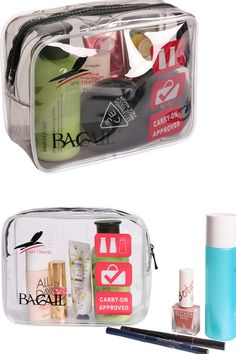 77761d4b0204 Bagail TSA Approved 3-1-1 Airline Carry On Clear Travel Toiletry Bag Quart