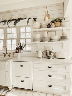 Are you looking for ideas for farmhouse kitchen? Check this out for unique farmhouse kitchen ideas. This unique farmhouse kitchen ideas seems amazing. Farmhouse Kitchen Cabinets, Farmhouse Style Kitchen, Modern Farmhouse Kitchens, Kitchen Cabinet Design, Home Decor Kitchen, Country Kitchen, New Kitchen, Home Kitchens, Kitchen Ideas