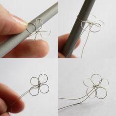 Blumen um den Kugelschreiber umwickeln - Anleitung