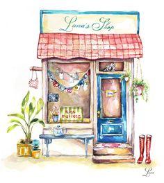 Small Business Illustration   Lana's Shop