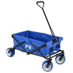 Folding Camping Festival Trolley Portable Carry Cart All Terrain Beach Wagon