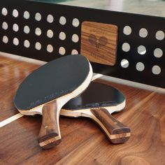 The Woolsey Ping Pong Table   Paddles and Steel Net