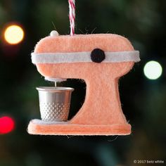 Betz-White-Holiday-Mixer-Ornament-peach c