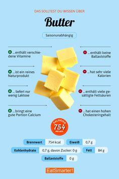 Das sollte man über Butter wissen   eatsmarter.de #butter #infografik #ernährung