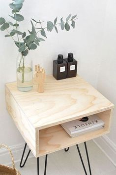 Nice Nightstand - The Coolest Hacks On Pinterest For The Modern Home - Photos