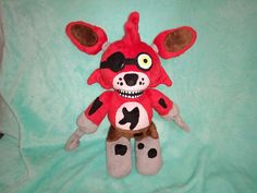 Toy made from drawing. Five nights at freddys Foxy plush, commissioned plush,  stuffed monster toy, toy from kids drawing