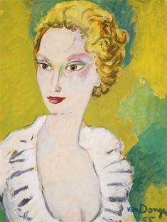 Kees van Dongen - Portrait de M.me Angell (1955)