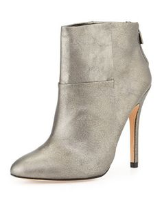 Zen Metallic Classic Ankle Boot, Pewter by Charles David at Neiman Marcus.