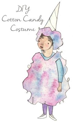 DIY Food Costumes for Kids - Candy Costumes Cotton Candy Halloween Costume, Candy Costumes, Homemade Halloween Costumes, Halloween Diy, Happy Halloween, Food Costumes For Kids, Easy Diy Costumes, Costume Ideas, Costume Bonbon
