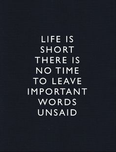 important words unsaid