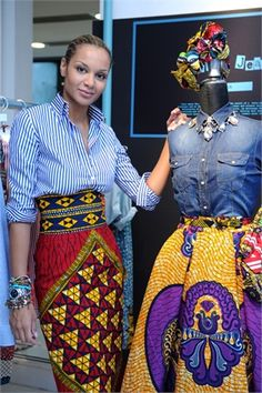 Designer, Stella Jean....love the African print w/a button down!