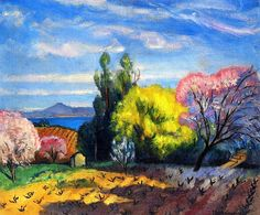 Spring in Saint-Tropez-Charles Camoin - 1921 by BoFransson, via Flickr