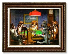 Classic poker art: Dogs Playing Poker Framed Art - Via 21 All-In Poker Gift Ideas for the Card Shark in Your Life
