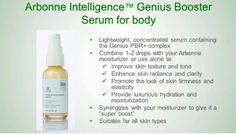 Arbonne Intelligence Genius Body Serum! Release Date Sept 1 0 But I can get it early!! Contact me to get this in August!