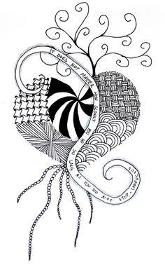 zentangle hearts   Zentangle #1 - Heart