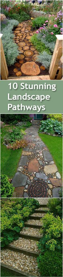 Backyard Pathways cement block tiles borderedwhite pebbles for a simple pathway
