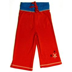 Organic Nautical Star Red Yoga Pants