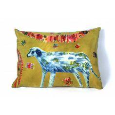 Rose de Borman Hand-Printed Dog Cushion