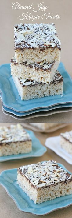Almond Joy Krispie Treats - These are a must make for coconut lovers!!