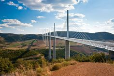 When construction began on the €400million (£314million) cable-stayed bridge that spans the River Tarn, special engineering was required to tackle the 95 mph winds that swept through the valley