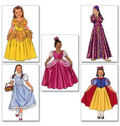 GIRLS PRINCESS COSTUME Pattern Dressup Snow White Wizard of Oz Dorothy Mulan Belle Butterick 4320 Size 2 3 4 5 UNCuT Toddler Sewing Patterns by DesignRewindFashions on Etsy