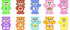 Osos amorosos Care Bears Hama Beads pattern