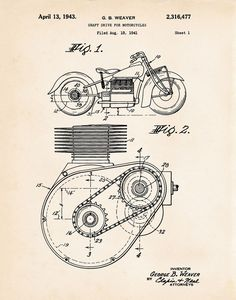 19 best patent motorcycle art prints images on pinterest rh pinterest com