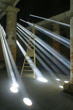 At the Venice Biennale 2016 climate engineering firm Transsolar and German architect Anja Thierfelder have created an immersive installation that floods the Arsenale with visibile rays of light.